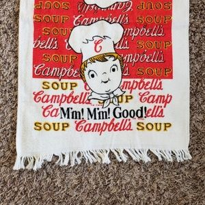 Campbell's Soup vintage dish towel never used